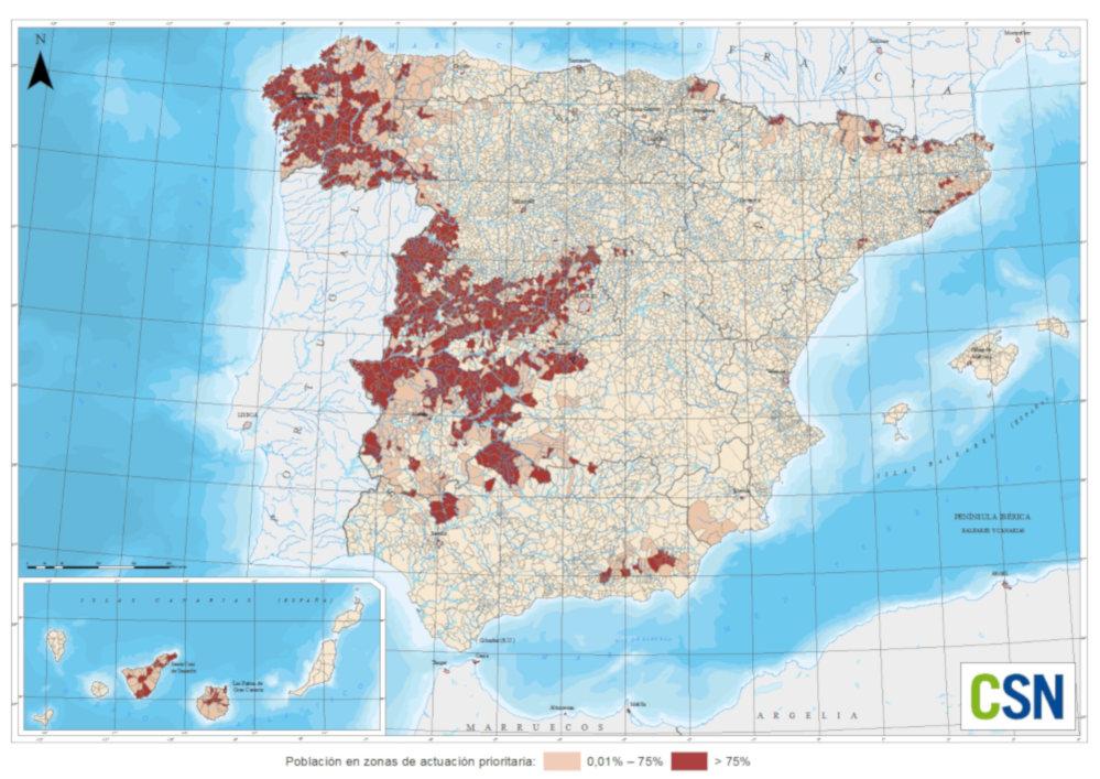 mapa gas radon municipios