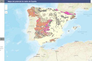 mapa radon espana