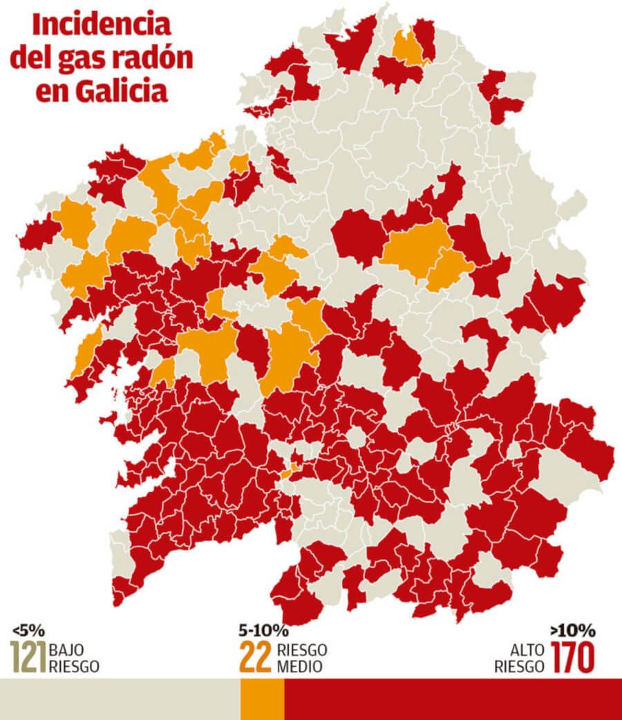 mapa gas radon galicia