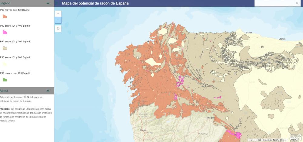 mapa radon galicia